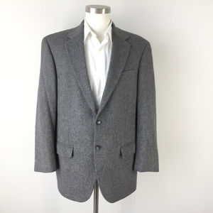 Macy's Club rooms Gray 100% camel Hair blazer 42 s